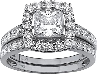 Best white gold and cubic zirconia wedding sets Reviews