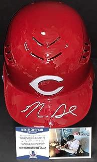 Nick Senzel Cincinnati Reds Beckett Witness COA Autographed Signed Full Size Helmet