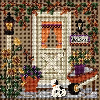 Country Welcome Beaded Counted Cross Stitch Kit Mill Hill Buttons Beads 2007 Autumn MH147206