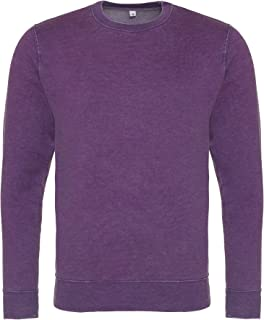 AWDis Hoods Mens Long Sleeve Washed Look Sweatshirt