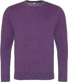 AWDis Hoods Mens Long Sleeve Washed Look Sweatshirt