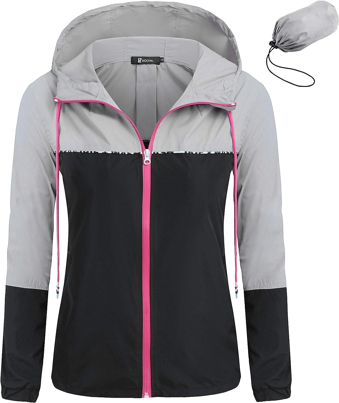 RAGEMALL Women's Waterproof Raincoats Packable Sales for sale Windb Denver Mall Lightweight