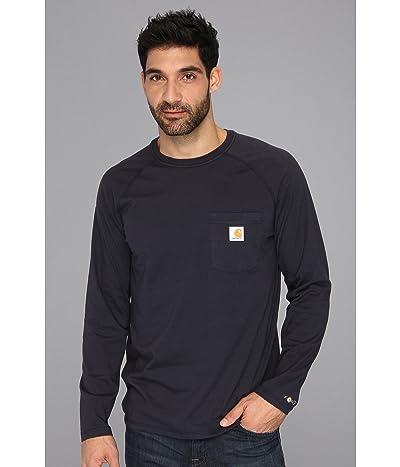 Carhartt Force(r) Cotton Delmont Long-Sleeve T-Shirt (Navy) Men