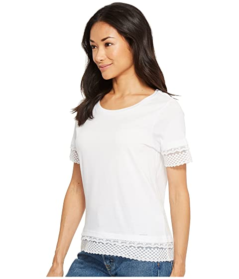 S Lace Double Solid ASSN U POLO Top zOdFRq