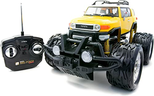 High Detail Bigfoot TOYOTA FJ Cruzer (jaune) Renouveaual (RC Model)