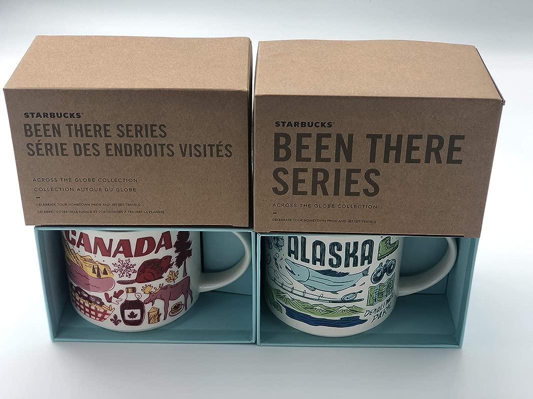 2 Mug Set Alaska Canada Been There Series BTS 14 Ounce Mugs