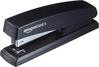 AmazonBasics Stapler with 1000 Staples | Black