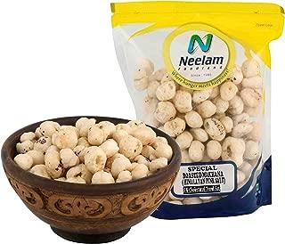 Neelam Foodland (Mumbai) Roasted Makhana Himalayan Pink Salt, Popped Lotus Seeds, Tea Coffee Snacks, Tasty and Healthy Indian Food and Snacks - 160 grams