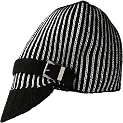 Pinstripe Double Face Jacquard Peak Hat