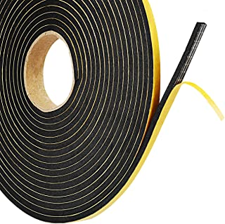 Foam Seal Tape,Weather Stripping for Door and Window Insulation,2 Pack 1/4in Wide x 1/8 T Seal Strip,Closed Cell Single Sided Adhesive Window Seal,Total 32FT