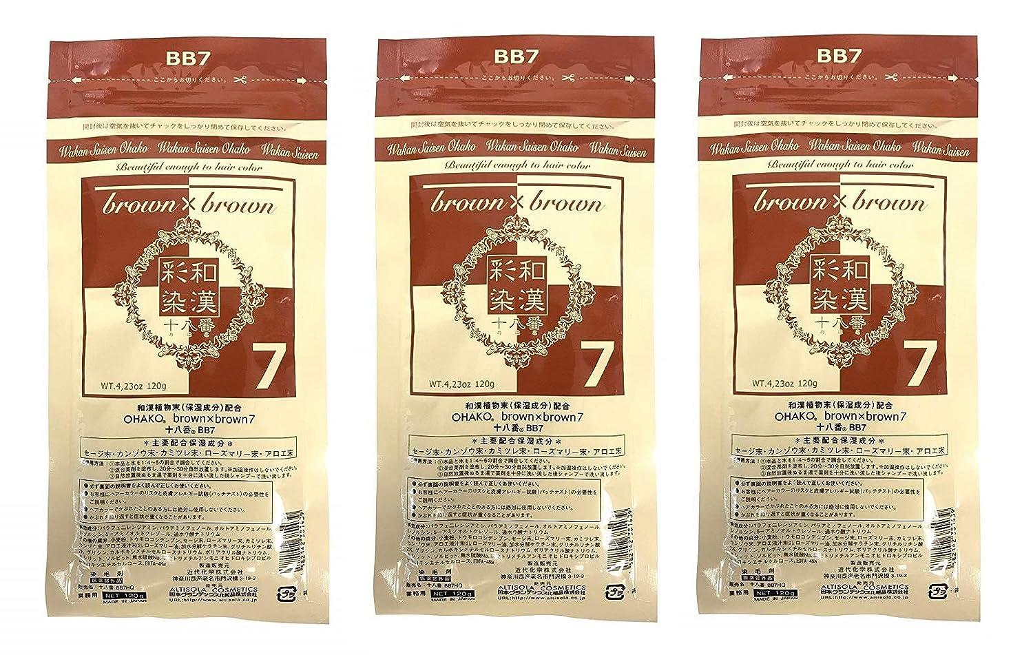 好奇心ブラウザ飢【3個セット】グランデックス 和漢彩染 十八番 120g BB7