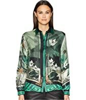 Versace Collection - Shirts - Verde + Stampa Button Up Blouse