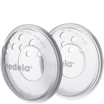 Medela SoftShells Breast Shells for Sore Nipples for Pumping or Breastfeeding, Discreet Breast Shells, Flexible and Easy to Wear, Made Without BPA