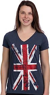 Union Jack Flag | UK United Kingdom Great Britain British Women Girl T-Shirt Top