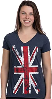 Union Jack Flag | UK United Kingdom Great Britain British Women Girl T-Shirt Top