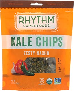 RHYTHM SUPERFOODS CHIP KALE ZESTY NACHO ORG