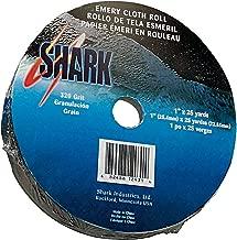 Shark 12996 1.5-Inch by 50-Yards Aluminum Oxide Emery Cloth Roll, 180-Grit