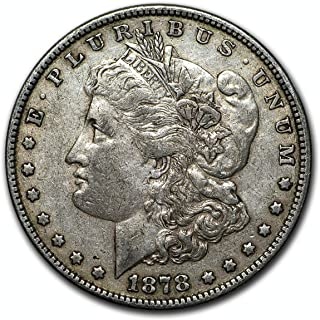 1878 P Morgan Silver Dollar 7 Tailfeathers Reverse of 78 Extremely Fine $1 Extremely Fine