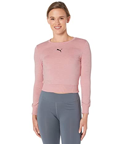 PUMA Soft Sports Long Sleeve Tee (Bridal Rose) Women
