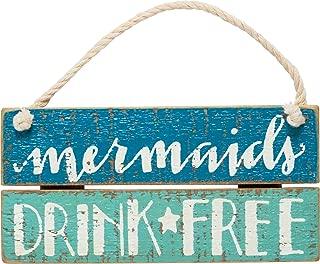Primitives By Kathy - Slat Sign - Mermaids Drink