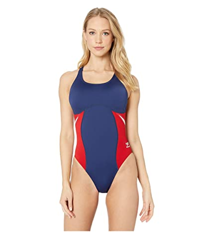 Speedo Spark Splice Super Pro One-Piece (Navy/Red) Women