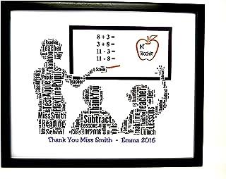 """Nuovo 'Insegnante' personalizzato Grazie Word Art (femminile), design (A) SOLO STAMPA si adatta a qualsiasi cornice da 8""""x..."""