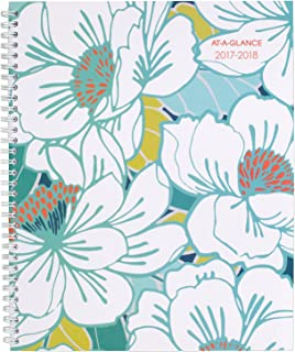 """at-A-Glance 1018-905A-18 Academic Weekly/Monthly Planner, July 2017 - June 2018, 8-1/2"""" x 11"""", Mia"""