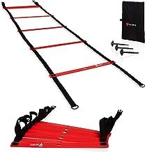 VIA FORTIS Premium trainingsladder (6 m) – coördinatieladder voor functionele training, voetbal, basketbal, tennis en meer...
