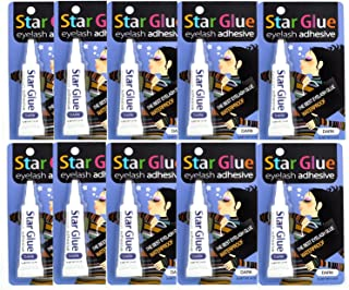 Star Glue Waterproof Eyelash Adhesive Dark For Eye Shadow,Mascara And Eyeliner 10 Pcs