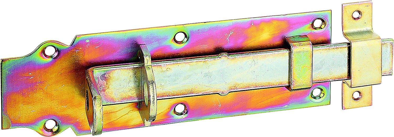 Gartentorfalle Riegel Schloß Türschloß Türriegel Klinke gelb verzinkt GAH 210328