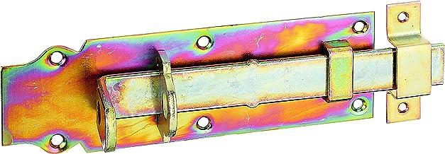 GAH-Alberts 116798 sluitgrendel | recht, met platte greep en bevestigde lus | elektrolytisch geel verzinkt | plaat 200 x 6...