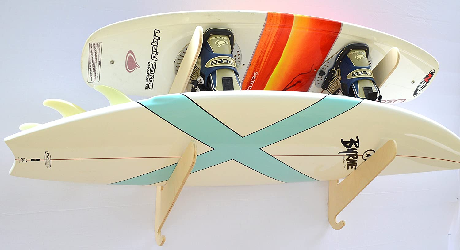 The Max Bargain sale 67% OFF Exhibitor Surfboard Wall Rack 2 Holds