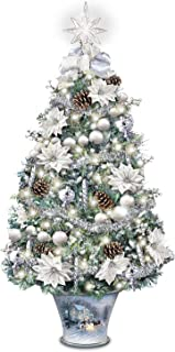 Thomas Kinkade Winter Splendor Tabletop Tree from Bradford Exchange: Lights Up