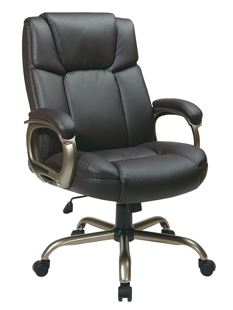 醸造所偏心入射Office Star Executive Big Man's Chair with Eco Leather Seat and Back, Espresso 141[並行輸入]