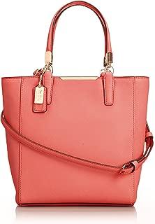 Madison Saffiano North South MINI Tote Crossbody Bag Tan