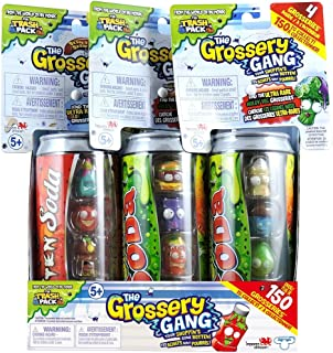 Grossery Gang The Trio - 3 Trash Can Pack Series 1 & 2