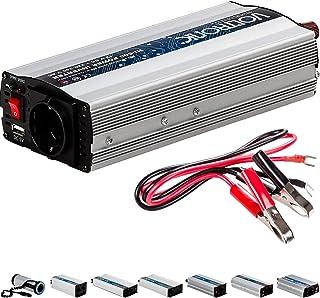 VOLTRONIC® MODIFIZIERTER Sinus Spannungswandler 600W mit E Kennzeichen, 12V auf 230V, USB, Stromwandler Inverter Wechselrichter Auto PKW