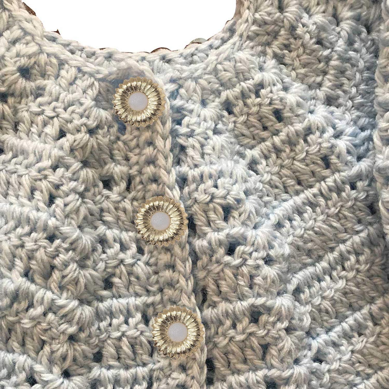 lot de 10 v/êtements bronze et blanc Trimming Shop Lot de 10 boutons d/écoratifs abstraits pour tricot d/écoration bricolage couture 20 mm