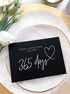 Black and White 1st Anniversary Gift Today I Have Loved You For 365 Days Card For Boyfriend One Year