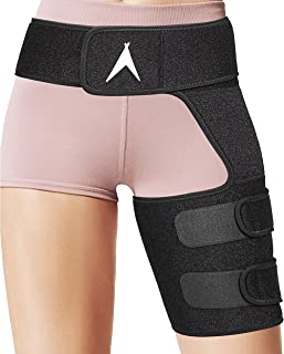 ATX Hip Brace - Sciatica Pain Relief and Groin Support - Compression Wrap for Pulled Muscles - Hamstring Thigh Quadriceps Arthritis Joints - SI Belt Men and Women