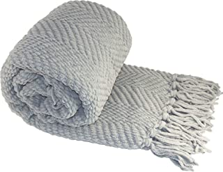 Home Soft Things Knitted Tweed Throw Couch Cover Blanket, 60