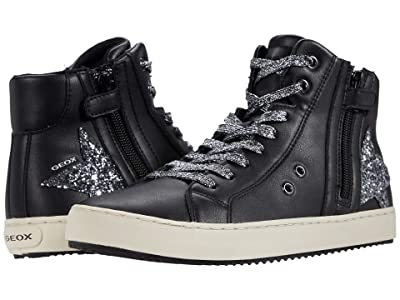 Geox Kids Kalispera 36 (Big Kid) (Black/Dark Silver) Girl