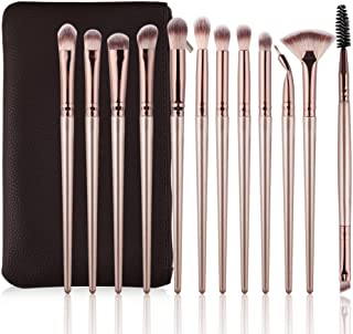 Daubigny Eye Makeup Brushes, 12 PCS Professional Eye shadow, Concealer, Eyebrow, Foundation, Powder Liquid Cream Blending ...