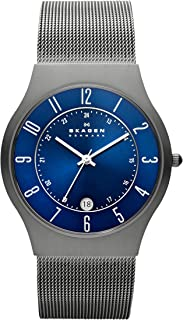 Skagen Men's Sundby Titanium and Stainless Steel Mesh Casual Quartz Watch