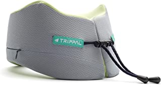 TripPal Travel Pillow with All-rounded Neck, Head and Chin Support, Squeezable U-Shaped Neck Pillow, Memory Foam, Washable...
