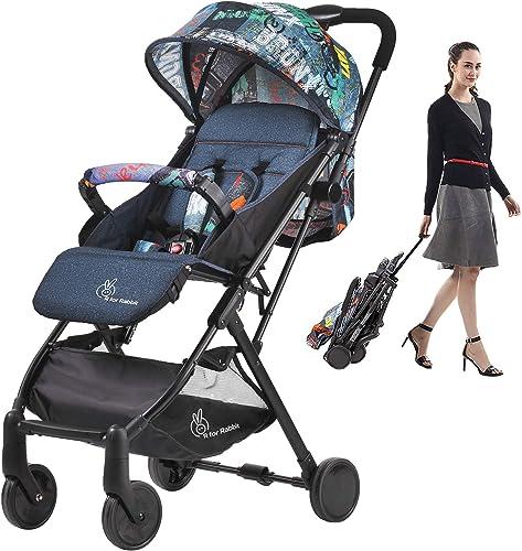 R for Rabbit Pocket Stroller Lite Portable Travel Friendly Pre Installed Baby Stroller and Pram for Baby|Kids|Infants...