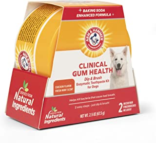 Arm & Hammer Dip & Brush Dental Care Kit for Pets - Cat and Dog Dental Care Kits for Gum Health, Fresh Breath and Tartar Control - Natural Ingredients and Great Taste