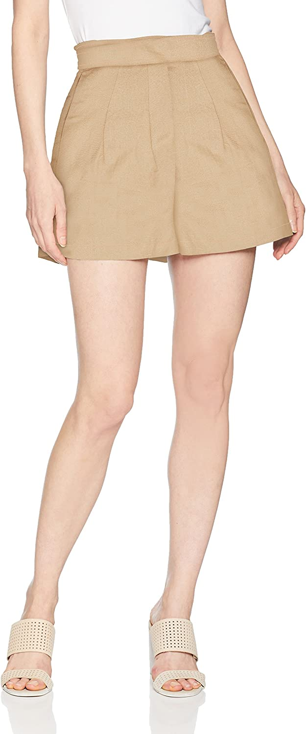 ASTR the label Women's Jayden Utility High Waist Casual Shorts with Belt