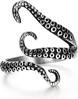 Stainless Steel Octopus Shape Rings for Men Women Vintage Rings,Size 7-13