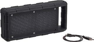 Amazon Basics - Altoparlante bluetooth impermeabile (IPX5), portatile, per esterni, nero, 15 W
